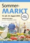 Sommermarkt am Hauptplatz in Melk
