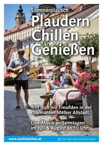Sommerplausch in der Melker Altstadt
